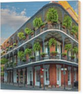 New Orleans House Wood Print by Inge Johnsson