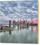 New York City Wood Print by Photography by Steve Kelley aka