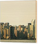 New York City Skyline Panorama Wood Print by Vivienne Gucwa