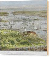 New York Harbor, 1872 Wood Print by Granger