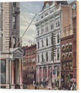New York Stock Exchange In 1882 Wood Print by Everett