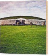 Newgrange Morning Wood Print by Douglas Barnett