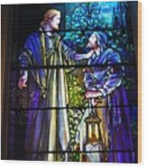 Nicodemus Came To Him At Night Wood Print by Pg Reproductions