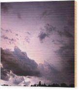 Night Storm Wood Print by Amanda Barcon