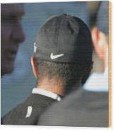 Nike Logo Wood Print by Chuck Kuhn