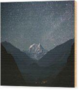Nilgiri South (6839 M) Wood Print by Anton Jankovoy