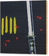 Ninja Wood Print by Barbara Teller