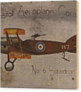 No. 6 Squadron Bristol Aeroplane Company Wood Print by Cinema Photography