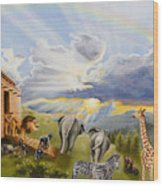 Noah's Ark Wood Print by Cheryl Allen