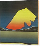 Northern Light. Wood Print by Jarle Rosseland
