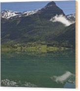 Norway, Briksdal Glacier At Jostedal Wood Print by Keenpress