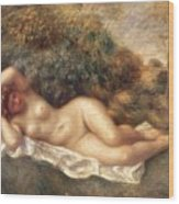 Nude Wood Print by Pierre Auguste Renoir