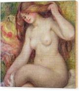 Nude Wood Print by Renoir