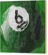 Number Six Billiards Ball Abstract Wood Print by David G Paul