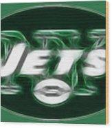Ny Jets Fantasy Wood Print by Paul Ward