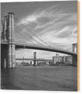 Nyc Brooklyn Bridge Wood Print by Mike McGlothlen