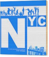Nyc Find Yourself In The City Wood Print by Naxart Studio