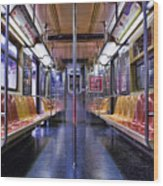 Nyc Subway Wood Print by Kelley King