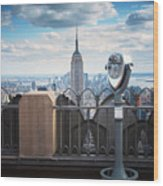 Nyc Viewpoint Wood Print by Nina Papiorek