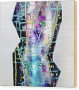Nyx - Night Goddess Wood Print by Mordecai Colodner