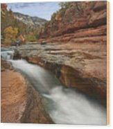 Oak Creek In Slide Rock State Park Wood Print by Tim Fitzharris