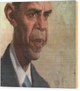 Obama Wood Print by Court Jones