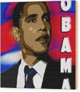 Obama Wood Print by John Keaton