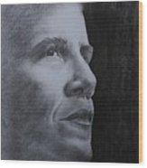 Obama Wood Print by Lise PICHE