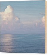 Ocean And Sky Wood Print by Blink Images