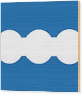 Ocean Blue Abstract Wood Print by Frank Tschakert