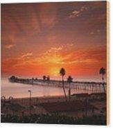 Oceanside Sunset 9 Wood Print by Larry Marshall