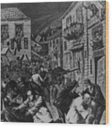 October 31, 1880 Anti-chinese Riot Wood Print by Everett