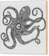 Octopus Wood Print by Carol Lynne
