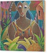 Ofrendas De Mi Tierra Wood Print by Oscar Ortiz