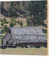 Old Barn Wood Print by Linda Larson