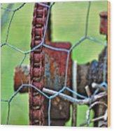 Old Cog Wheel Wood Print by Kaye Menner