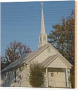 Old Country Church Wood Print by Kathy Bucari