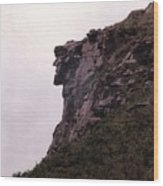 Old Man Of The Mountain Wood Print by Wayne Toutaint