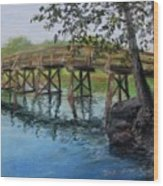 Old North Bridge In Pastel Wood Print by Jack Skinner