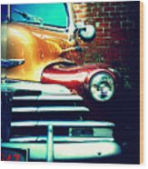 Old Savannah Police Car Wood Print by Dana  Oliver