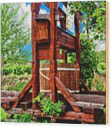 Old Wine Press Wood Print by Mariola Bitner