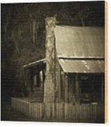 Ole Marsh Homestead Wood Print by Sheri McLeroy
