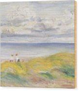 On The Cliffs Wood Print by Pierre Auguste Renoir