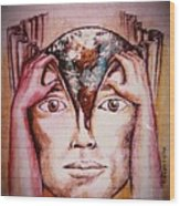 Open Mind For A New World Wood Print by Paulo Zerbato