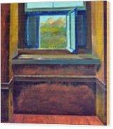 Open Window Wood Print by Michelle Calkins