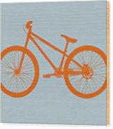 Orange Bicycle  Wood Print by Naxart Studio