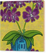 Orchid Delight Wood Print by Lisa  Lorenz