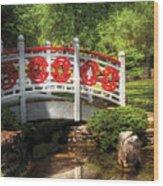 Orient - Bridge - Tranquility Wood Print by Mike Savad
