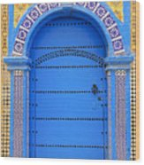 Ornate Moroccan Doorway, Essaouira, Morocco, Middle East, North Africa, Africa Wood Print by Andrea Thompson Photography