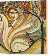 Out West Original Madart Painting Wood Print by Megan Duncanson